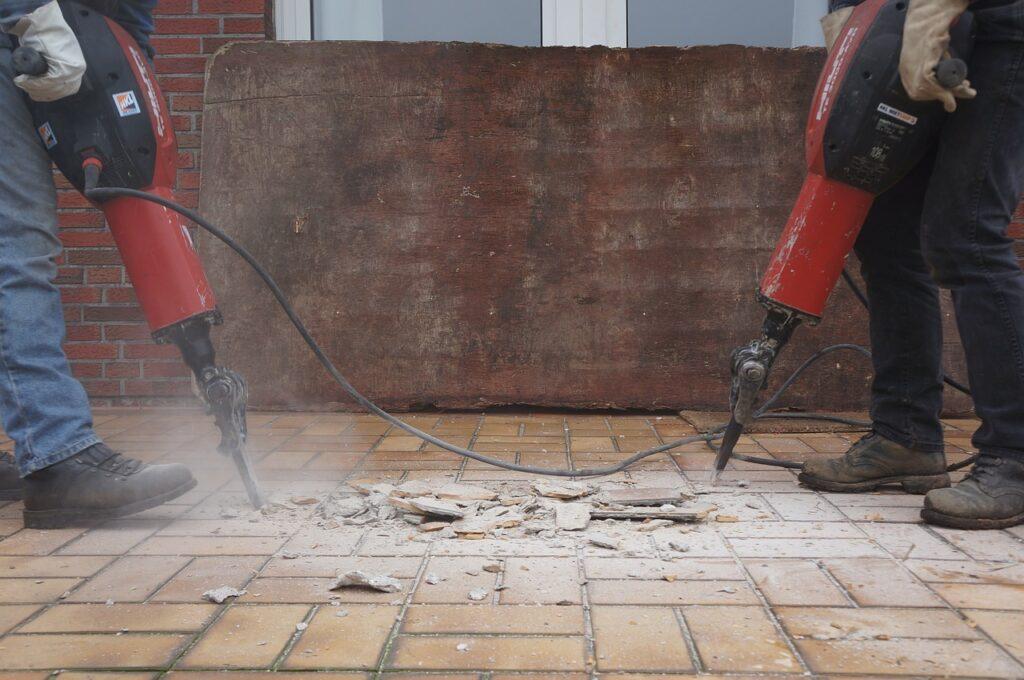 Demolition Hammer For Tile Removal Handle