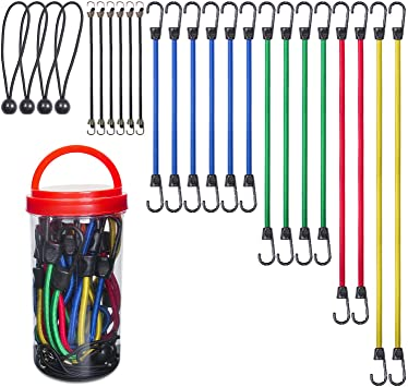 EFFICERE 24 Pieces Sturdy Bungee Cords