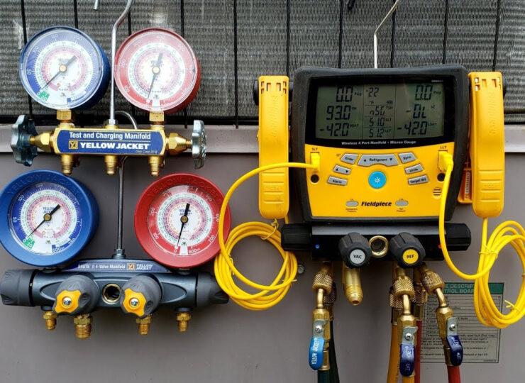 digital HVAC gauges